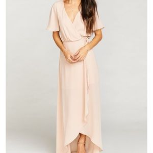 Show me Your Mumu Sophia Wrap Dress- Dusty Blush
